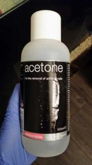 Acetone used in the production of Spice.