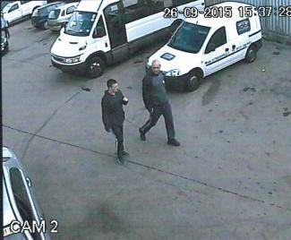 Kai Kennedy and Mark Davies at the scene
