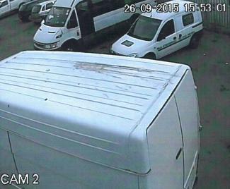 Damage to the van