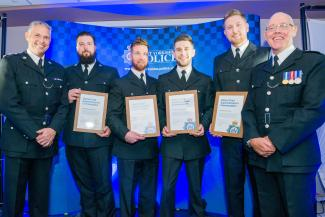 picture of PC Caulfield, PC Riorden, PC Gomes, PC Taylor
