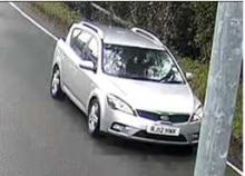 His silver Kia Ceed estate in Troydale Lane, Pudsey