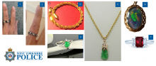Some of the stolen jewellery items police want to trace.