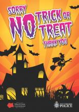 """""No Trick or Treat poster"