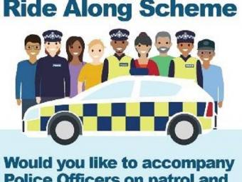 Stop and Search Ride Along Scheme advert