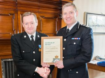 Special Constable Roy Evans (left) and T/Deputy Chief Constable Russ Foster