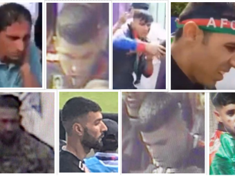 Images of men police would like to trace